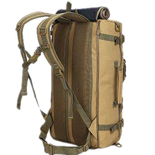 GOUQIN Zaino Outdoor Classico Moda Per Esterno 50L Arrampicata Zaini Borse Borsa Da Viaggio Custodia, Camouflage Kaki