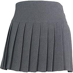 Escolar Uniforme alta cintura Chica Rock solo Uniforme UK gris 15-16 Años