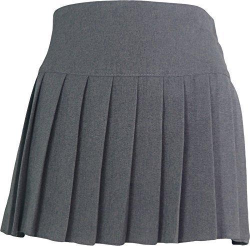 Schuluniform Hohe Taille Mädchen Rock nur einheitliche UK - grau, 38