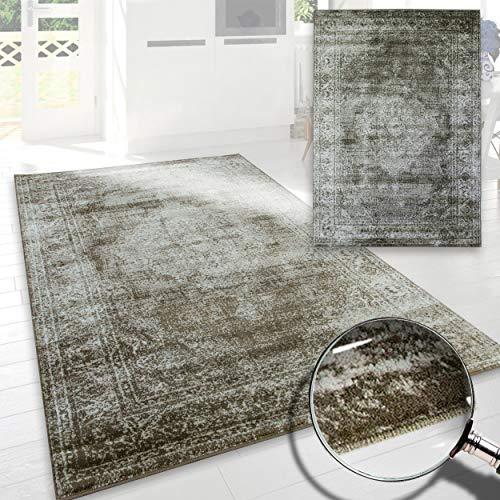 A2z Schnellspanner Teppich Vintage Traditionelle Santorini Kollektion braun 80x 150cm-2,6x 5ft Bereich Teppiche -