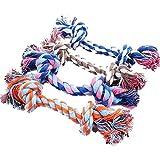 Hosaire 1x Hundespielzeug Seil Kordel aus Baumwolle für Spielen und Kauen-Saite Biss für Hunde,Größe-28 cm (Farbe zufällige)