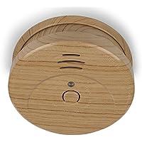 Smartwares Rauch-/Brandmelder, DIN EN 14604, Holz Optik, RM149H