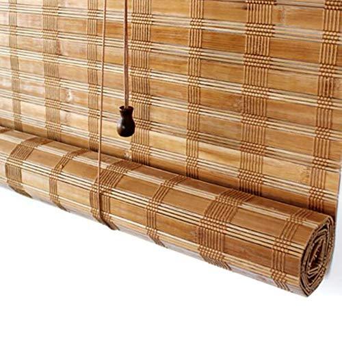 Drinnen oder auf der Veranda beschattende Bambusjalousien, Vintage-Vorhang für Fenster/Trennwände/Balkon/Schlafzimmer/Teestube, breiter Bambus (Farbe : Wave Valance, größe : 120x115cm(WXH))