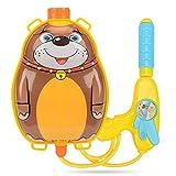 Aolvo Piccola pistola ad acqua zaino acqua pistole per bambini, water Shooter giocattolo con forma di animale zaino, estate Outdoor Baby Toy Gun per piscina e spiaggia gioco Brown Bear Style