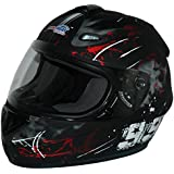 Protectwear Casco de moto negro-rojo 99 FS-801-99R Tamaño M