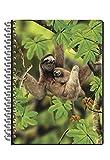 3D Notebook Carnet Notizbuch 12,5x17cm 50 Blatt (Faultier)