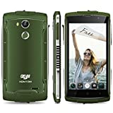 ZOJI Z7 LTE 4G Smartphone Ohne Vertrag (Android 6.0, IP68 Wasserdicht Outdoor Handy, 2GB Ram+16GB Rom, Dual-SIM Quad-Core, 5,0 Zoll Touch-Display, Dual Kamera 13MP+5MP, Fingerabdruck GPS ) - Armeegrün