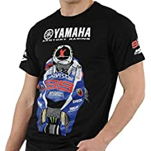 Jorge Lorenzo Yamaha MotoGP Factory Racing Team Lorenzo - Camiseta para hombre, color negro,