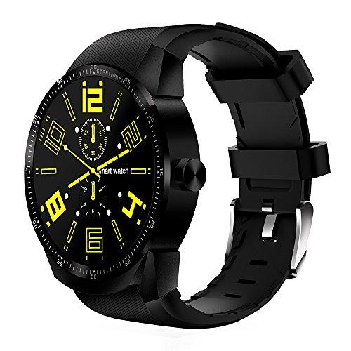 Happy-day Damen Outdoor Smartwatch Bluetooth 3G Android Smartwatch SIM Telefon GPS 4 GB Dual Core Freizeit Uhr S Schwarz