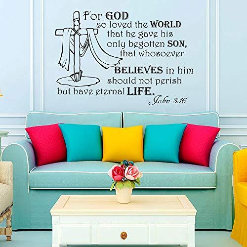 Wandaufkleber Schlafzimmer Für Gott So Liebte Die Welt Text Aufkleber Worte Schlafzimmer Wohnkultur Wohnzimmer Dekoration (Und Die Das Welt Wort)