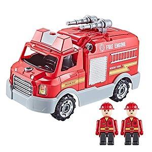Think Gizmos Camion Pompieri da Costruire con Luci e Suoni – Camion Pompieri Giocattolo da 32 Pezzi – Include Viti e… 5056259300465 LEGO