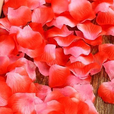 Y&HUNTUO (10PCS) Forniture di nozze / decorazione della stanza di nozze / simulazione petalo di falsificazione / decorazione di cerimonia nuziale / petalo di rosa di simulazione colata a mano , 4 2