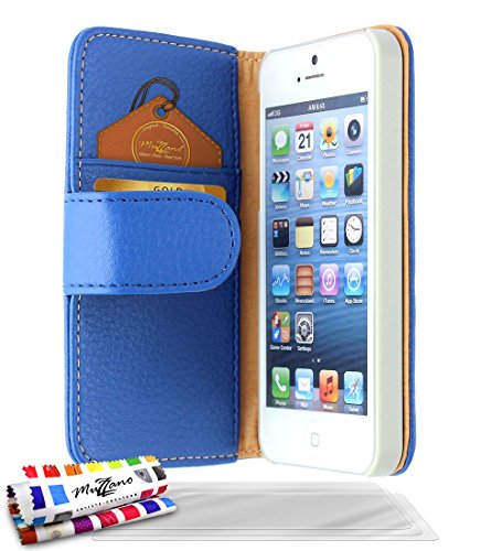 "Coque Semi-Rigide Ultra-Slim APPLE IPHONE 5S / IPHONE SE [La Sport Case Premium] [Rose] de MUZZANO + 3 Films de protection écran ""UltraClear"" + STYLET et CHIFFON MUZZANO® OFFERTS - La Protection Antic Bleu + 3 Films de Protection Ecran"