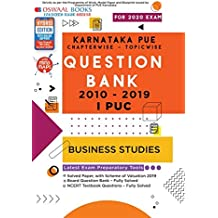 Oswaal Karnataka PUE Solved Papers I PUC Business Studies Book Chapterwise & Topicwise (For March 2020 Exam)