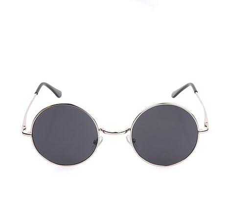 Flashing- Lunettes de soleil rondes Hommes Femmes rétro lunettes de soleil de lunettes de soleil de mode à la mode ( Couleur : #8 ) Ep2pYh1cK