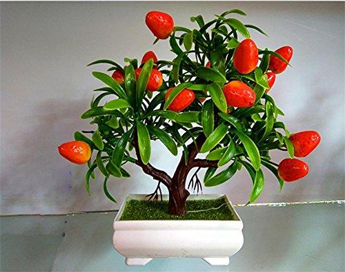 artificial Bonsái Bonsai sintético decorativo Artificial flor de la planta con Potted Decoración tabla sala estar afortunada Feng Shui Decorativa árboles floración , #39