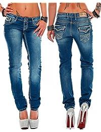 Cipo & Baxx Sexy Damen Hose Hüftjeans Skinny Regular Fit Stretch