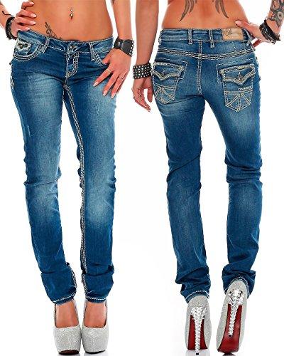 9db60ffb436 Cipo   Baxx Damen Jeans Hose Hüftjeans Skinny Slim Fit Stretch Röhre  Freizeithose