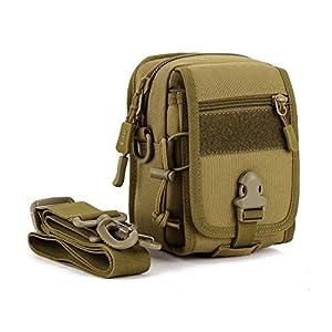 51QSrES76vL. SS300  - Huntvp Tactical Molle Phone Pouch Cross Body Messenger Bag Waterproof Waist Belt Pack Gear