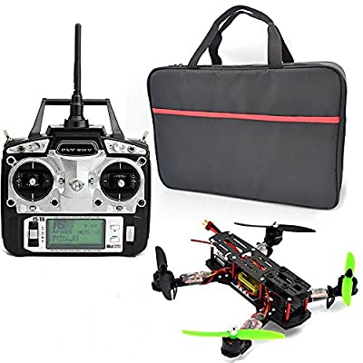 Xiangtat Full Carbon Fiber QAV 250 mm Quadcopter Race Copter Racing Drone Frame Kit + CC3D Flight Controller + MT2204 2300KV Motor + Simonk 12A ESC +FlySky FS-T6 for FPV (Unassembled) from Xiangtat