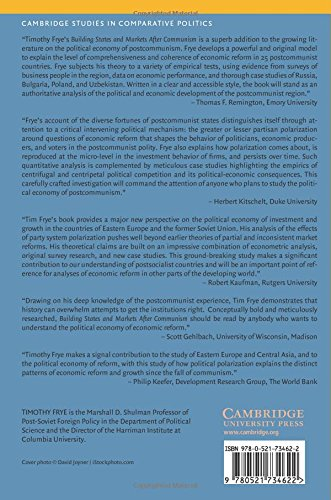 Building States and Markets After Communism Paperback (Cambridge Studies in Comparative Politics)