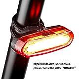 Luce Posteriore Bici USB Ricaricabile, LED Bicicletta Luce Fanale Posteriore Bici 4 Modalità di Luce, Resistente all' Acqua, Adatto per TUTTE le Biciclette e Caschi per Ottimale Ciclismo Sicurezza