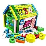 TGTGTS4 Bauklötze Kinder Toy Wooden Wooden House Bausteine