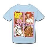 Spreadshirt Bibi Und Tina Mit Amadeus Und Sabrina Kachelmotiv Kinder Bio-T-Shirt, 134/140 (9-10 Jahre), Hellblau
