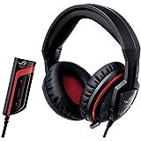 Asus Orion PRO - Auriculares gaming con procesador de audio ROG Spitfire USB, color negro y rojo