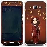 Samsung Galaxy J5 (2015) Case Skin Sticker aus Vinyl-Folie Aufkleber Schmetterlinge Mädchen Traumwelt
