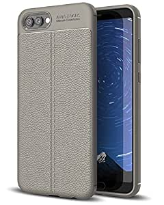 Golden Sand Honor View 10 Case Premium Leather Texture Series Rugged Armor ShockProof TPU Back Cover for Huawei Honor View 10 Mobile, Magnet Grey