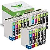 18 Packung GREENBOX Kompatibel Druckerpatronen Tintenpatronen Ersatz Kompatibel EPSON 16XL Kompatibel mit Epson WorkForce WF-2010 WF-2500 WF-2510 WF-2520 WF-2530 WF-2540 WF-2630 WF-2650 WF-2660 WF-2700 WF-2750 WF-2760 ( 9 x Schwarz, 3 x Cyan, 3 x Magenta, 3 x Gelb )