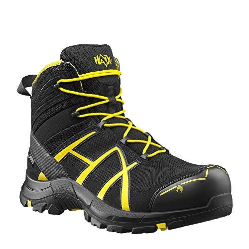 Haix Black Eagle Safety 40 Mid Black/Yellow Sportliche Sicherheitsschuhe - die Basis Ihrer Arbeitskleidung. 42 -