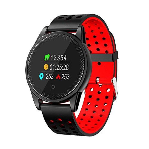Comaie Smart Armband Armbanduhr Farbe Bildschirm Herzfrequenz Blutdruckmessgerät Aktivität Fitness Band Armband Fashion Tracker Handgelenk Sports Schrittzähler M10Tracking für Android iOS Rot