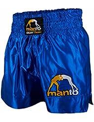 MANTO Muay Thai Short Logo Fights Short de Kick Boxing Muay Thai Boxe Thai