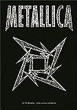 Heart Rock Bandiera Originale Metallica Ninja Logo, Tessuto, Multicolore, 110x75x0.1 cm