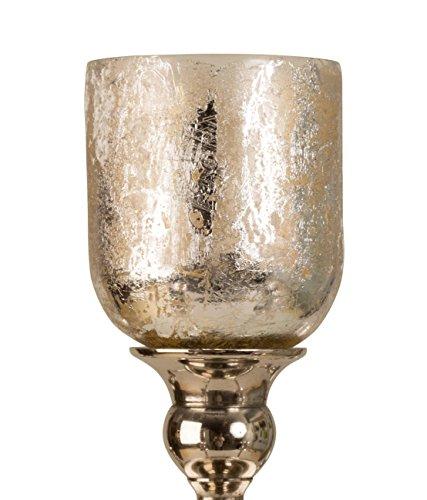 5 x Glasaufsatz in Silber für Kerzenständer Windlicht Aufsatz