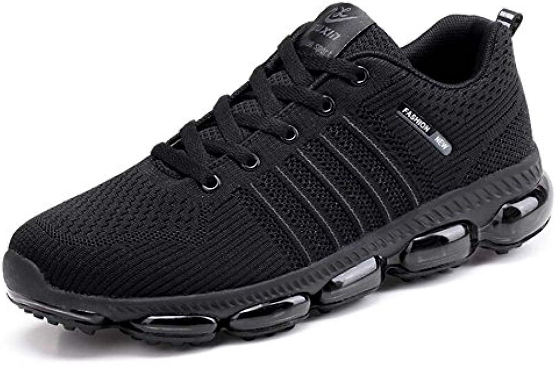 Hombres Bomba Transpirable Malla Zapatos Aire Cojín Ligero Casual Sport Zapatos Encaje hasta Snekers UE Tamaño  -