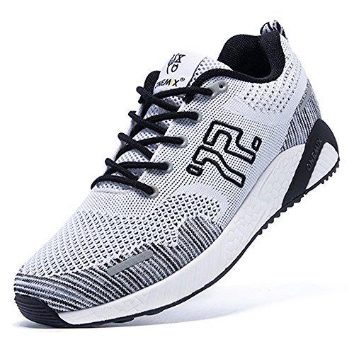 ONEMIX Atletica Degli Uomini Scarpe Da Corsa Delle Donne Sneakers Di Jogging Unisex Bianco nero