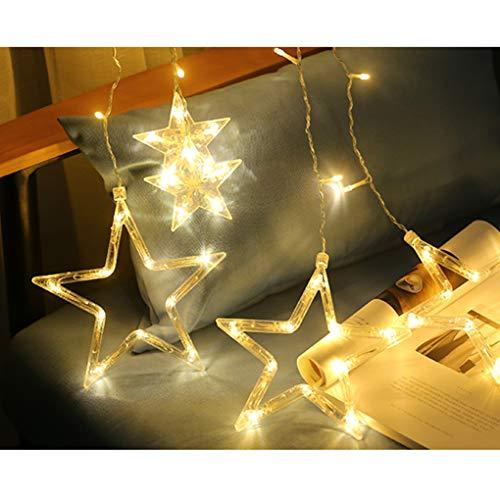 co Cálido LED Luces De La Cortina Estrellas Luces De Hadas Gypsophila Navidad Fiesta De Halloween Inicio Dormitorio Decoraciones ()