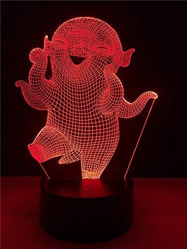 Film Monster Jagd Charakter Wuba LED Illusion 7 Farbe Verdunkelung Farbverlauf Nachtlichter Kindernacht Schlafen Geburtstag Weihnachtsgeschenke