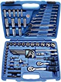 """BGS 2299 Coffret de douilles six pans - 6,3 mm (1/4"""") + 10 mm (3/8"""") - pouces - 92 pièces"""