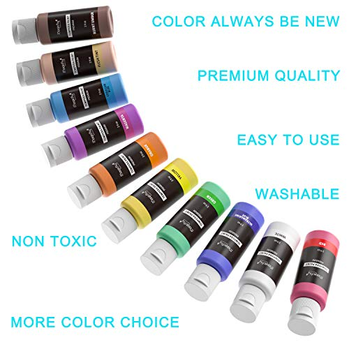 Washable Tempera Paint Set, Magicfly 30 Colors Kids Premium Liquid Tempera Paints Assrtoed Colors with Fluorescent Glitter Metallic & Neon Colors for Arts, Crafts and More(2 oz Each)