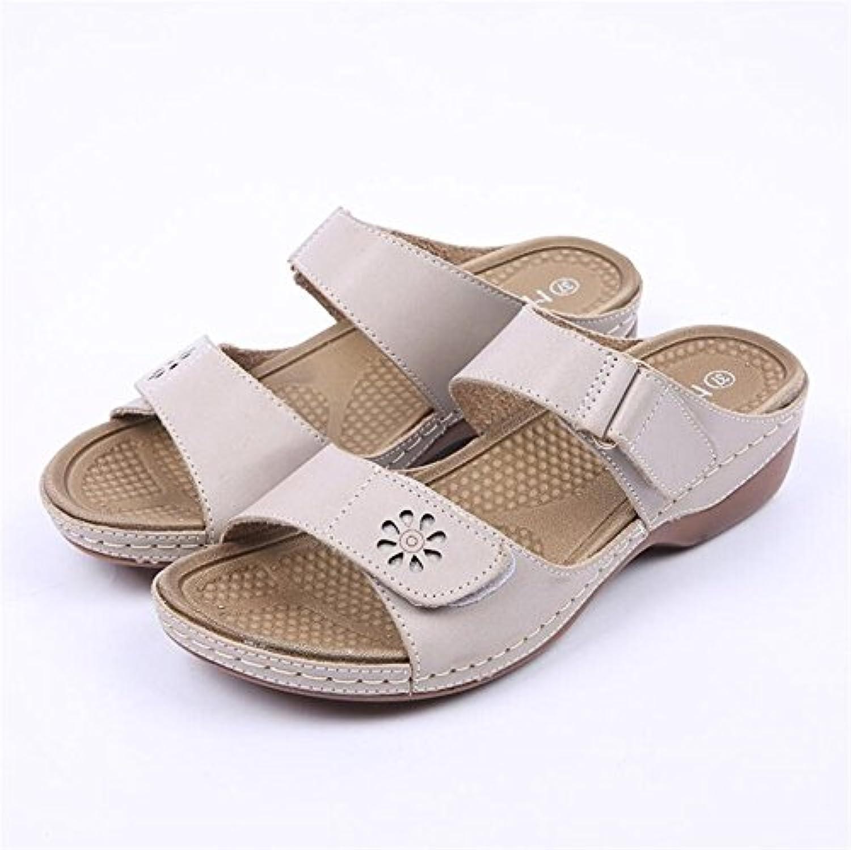 25c089798cc581 exing chaussures pour pour pour femme chaussures sandales pantoufle mère  rome été b07dynswy7 style wedge talon chaussures velcro chers parents |  Outlet Shop ...