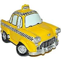 Preisvergleich für Unbekannt XL Spardose Auto Taxi - stabile Sparbüchse aus Kunstharz - Fahrzeug Sparschwein lustig witzig New York NYC yellow Cab - Reisekasse Urlaub Reisen