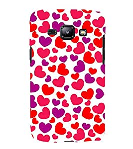 Little Heart 3D Hard Polycarbonate Designer Back Case Cover for Samsung Galaxy J1 (2016) :: Samsung Galaxy J1 (2016) J120H