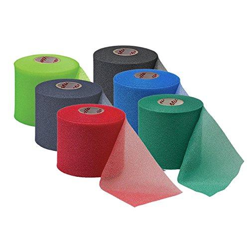 Mueller M-wrap (Mueller Big Bold M-Wrap Under wrap Sports Tape Erhältlich in einer Auswahl von Farben Schwarz, Blau, Grün, Limones Grün, Marine & Rot - Unterstützung, Physio, Verletzung Blau)