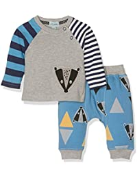 Lilly and Sid Baby Boys Applique Top//Reversible Joggers Set Clothing