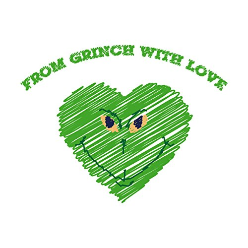 From Grinch With Love Christmas Men's Vest White