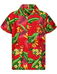 Camisa Hawaiana para Hombre Funky Casual Button Down Very Loud Manga Corta Unisex Strelitzie